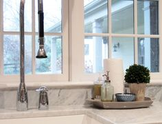 cute tray to use by the kitchen sink, awesome faucet (Southern Exposure - Life in Pictures)