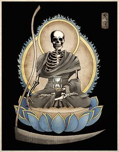 Gothic Macabre Art Print The Grim Reaper Memento Mori by Tiger House Art