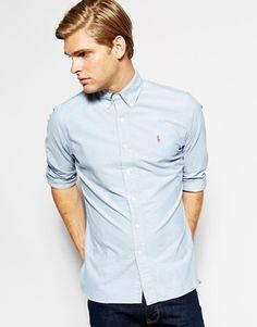 Polo Oxford Shirt In Custom Fit - Ralph Lauren