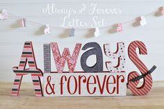Always & Forever Letter Set - The Wood Connection Blog