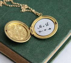 Personalized Locket Personalized Silver Locket Necklace