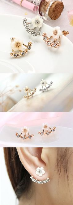 US$3.99+Free shipping. Daisy Flower Earrings, Cute For Women. Main Color: Silver, Gold, Rose Gold.