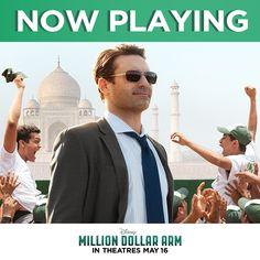 Million Dollar Arm Times - Movie Tickets + Showtimes Movie Tickets, Get Tickets, Million Dollar Arm, Hk Movie, Free Songs, Jon Hamm, Opening Day, The Millions, Marvel Cinematic Universe