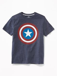 Boys Marvel Comics Captain America Tees #ad