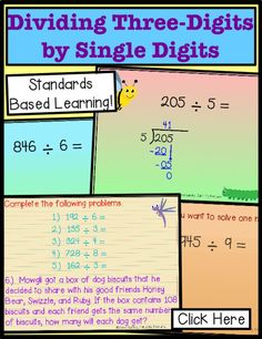 Teaching long division is easy with practice for 4th grade and 5th with this fun, no remainder lessons introducing how to do math problems. The activities in this power point show steps, introduction, or review for common core assessment to challenge kids