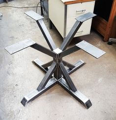 Square Trestle Table Base by DVAMetal on Etsy