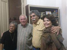 Con Carmen Sandoval, mi esposa, y Adys Cupull y Froylán Gonzáles, grandes historiadores cubanos.