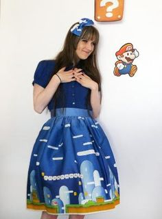 Super Mario Bros. skirt