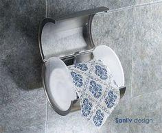 Sanliv Toilet Paper Roll Holder Satin Brushed Nickel Hotel Style