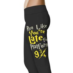 Run Like You're Late For Platform 9 3/4 - Harry Potter Leggings