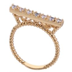 $1.53  Unique Classic Design 18K Gold Plated Stylish Copper Finger Ring Inlay Zircon Three Sizes http://www.eozy.com/unique-classic-design-18k-gold-plated-stylish-copper-finger-ring-inlay-zircon-three-sizes.html