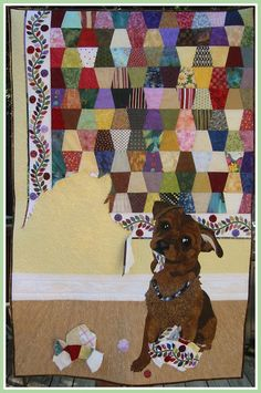Love, love, love this quilt! Can picture either Dummy Dog or Chienne doing this to one of mine.