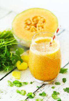 cantaloupe ginger cilantro smoothie