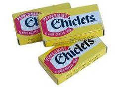 Afbeeldingsresultaat voor chiclette kauwgom