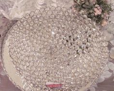 GORGEOUS LARGE CRYSTAL BOWL shabby chic Decor GIFT 4 Christmas or Any Occasion | Collectibles, Decorative Collectibles, Bowls | eBay! Rose Cottage, Large Crystals, Austrian Crystal, Shabby Chic Decor, Bowls, Store, Christmas, Gifts, Ebay