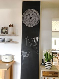 Das Schöne an der Tafelfarbe ist, dass man die Wand immer wieder neu gestalten kann. Frühlingsgemäß sind nun Vögel eingezogen. Herzlich Grüße, Sandra