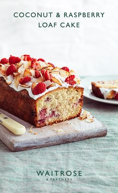 Juicy raspberries and sweet coconut are a wonderful combo in this loaf cake. Layer with creamy yogurt and a scattering of fresh raspberries. Tap for the full Waitrose & Partners recipe. Baking Recipes, Cake Recipes, Waitrose Food, Fig Cake, Delicious Desserts, Yummy Food, Pecan Cake, Def Not, Savoury Cake