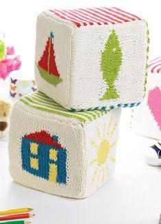 Free Knitting Pattern - Toys, Dolls & Stuff Animals: Child's Play Building Blocks