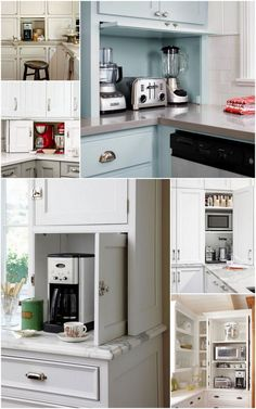 The Ideal Kitchen: Appliance Storage // Live Simply by Annie