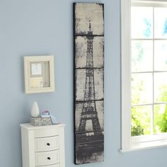 PB Teen Eiffel Tower Canvas Wall Art, Set of 5, 12x60 at Pottery Barn... ($269) ❤ liked on Polyvore featuring home, home decor, wall art, canvas panels, parisian home decor, canvas wall art, paris home decor and eiffel tower home decor