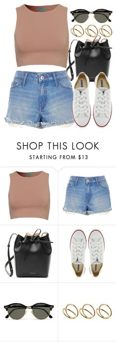 """Sin título #12390"" by vany-alvarado ❤ liked on Polyvore featuring River Island, Mansur Gavriel, Converse, Ray-Ban and ASOS"