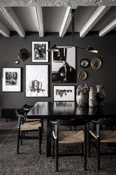 Black&White and gray interior design in Lyon