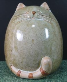 Fat ceramic cat, from American Society for the Prevention of Cruelty to Ceramic Animals (ASPCCA).