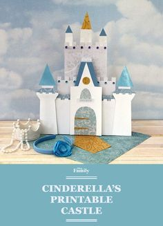 9 Dreamy Cinderella-Inspired Crafts to Do With Your Family: Print out Cinderella's castle! Cinderella Party Decorations, Cinderella Crafts, Cinderella Birthday, Cinderella Castle, Disney Diy, Disney Crafts, Walt Disney, Disney Princess Party, Disney Theme