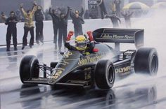 Lotus - Ayrton Senna - Ilustração