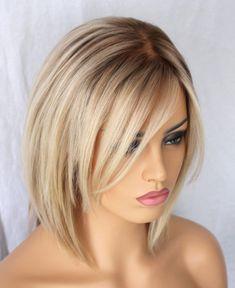 ombre Blonde Short Bob human hair wig- edw2068