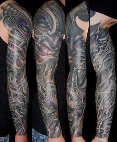 148 Biomechanical Tattoo for Geeks Alien Tattoo, Tattoos For Women Small, Tattoos For Guys, Men Tattoos, Body Art Tattoos, Sleeve Tattoos, Tatoos, Skull Tattoos, Biomechanical Tattoo Design