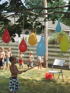 Water Balloon Pinatas are perfect for a hot summer day of fun. Via @angela4design #Summer Activities, Kid Activities, Summer Kid Activities