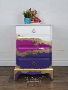 541 Best Metallic Painted Furniture Images In 2020