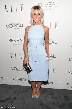 Julianne Hough in a Calvin Klein dress