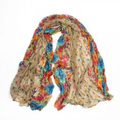 http://www.artfire.com/ext/shop/studio/bohemiantouch/1/1/10311//  Brown and Multicolor Floral Soft Touch Fashion Shawl Scarf, scarf is a great addition to your collection of fashion accessories. Perfect for all year round.
