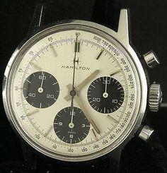Hamilton vintage SS chronograph men's watch w/Valjoux 7736 movement-All Original