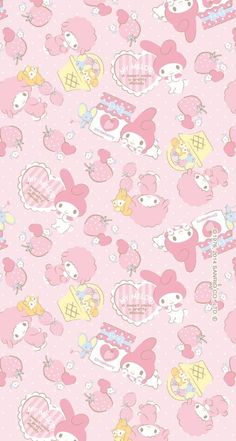 Hello Kitty Iphone Wallpaper, My Melody Wallpaper, Hello Kitty Backgrounds, Sanrio Wallpaper, Cute Pastel Wallpaper, Soft Wallpaper, Cute Patterns Wallpaper, Cute Backgrounds, Cute Anime Wallpaper