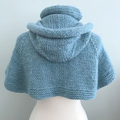 Ravelry: Wynter Chill Hooded Cape pattern by Grace Rose Hooded Cape Pattern, Knitted Cape Pattern, Poncho Knitting Patterns, Hand Knitting, Vest Pattern, Crochet Pattern, Sewing Patterns, Yarn Sizes, Hoods