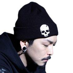 58b9971c3d5 Skull Beanie Knit Hat - 3 Colors
