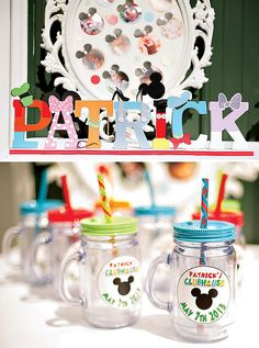 Colorful Mickey Mouse Clubhouse Birthday Party // Hostess with the Mostess®
