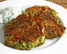 Zucchini and potato fritters. Freezer meal-hmmm something to do with all those extra zucchini this season!