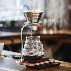 Delicious clean coffee on the Kalita Stainless Wave and Acaia Scale! Shop Kalita @alternativebrewing Link in Bio 1-4 Day Shipping   by @coffeenews.by
