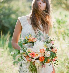 Bridal bouquet by L&S Design Co. Photography by Jose Villa