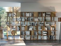 Buy online Marila By pacini & cappellini, open double-sided wooden bookcase design Cesare Arosio Wooden Bookcase, Bookshelves, Plex, Shopping, Design, Home Decor, Google, Image, Products