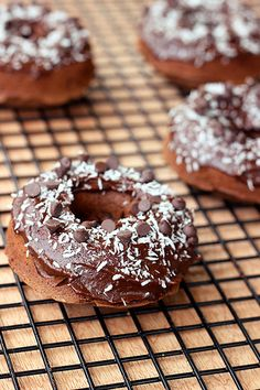 Double Chocolate Donuts with Coconut - #Glutenfree, #Dairyfree, Refined Sugar-free!