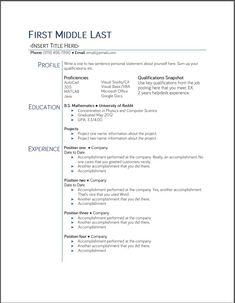 Google Docs Resume Template 2015 - http://www.jobresume.website/google-docs-resume-template-2015-17/