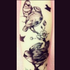 for my next tattoo. Three little birds on my forearm