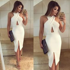Outstanding women dresses are offered on our internet site. Read more and you wont be sorry you did. Casual Dresses For Women, Sexy Dresses, Cute Dresses, Dress Outfits, Evening Dresses, Short Dresses, Fashion Dresses, Clothes For Women, White Homecoming Dresses