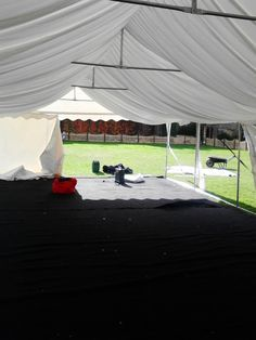 one of our 6m by 12m marquee's going up