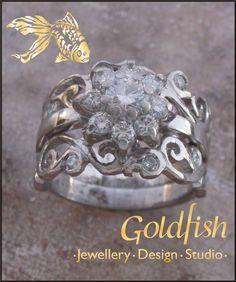 Goldfish, Heart Ring, White Gold, Wedding Rings, Engagement Rings, Bookmarks, Diamonds, Facebook, Jewelry